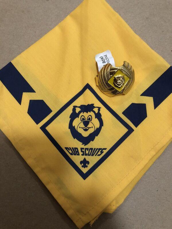Cub Scout Lion Neckerchief And Slide