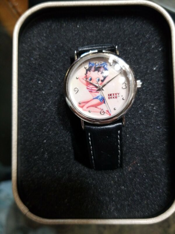 GLAMOROUS PATRIOTIC BETTY BOOP WATCH NEW IN CAN