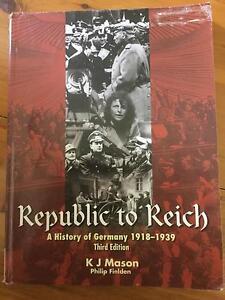 Republic to Reich a History of Germany******1939 (KJ Mason) Mount Colah Hornsby Area Preview