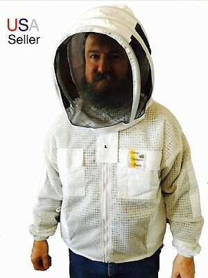 Ventilated Beekeeping Jacket Beekeeper Jacket Bee Keeper Veil Protective