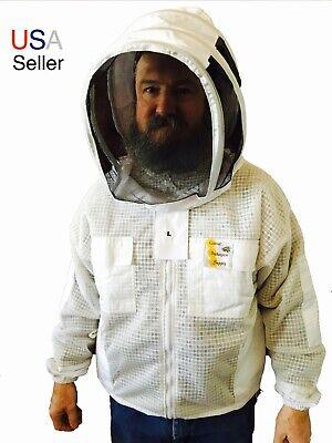 #01 M Top Best Quality Cotton beekeeping beekeeper bee Jacket Round veil
