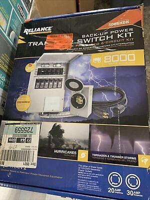 3006-hdk Reliance Controls 6 Circuit Back Up Power Transfer Switch Kit Pro Tran