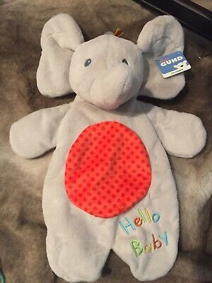 Baby GUND Flappy the Elephant Lovey Plush Stuffed Animal Blanket and Puppet 11.5
