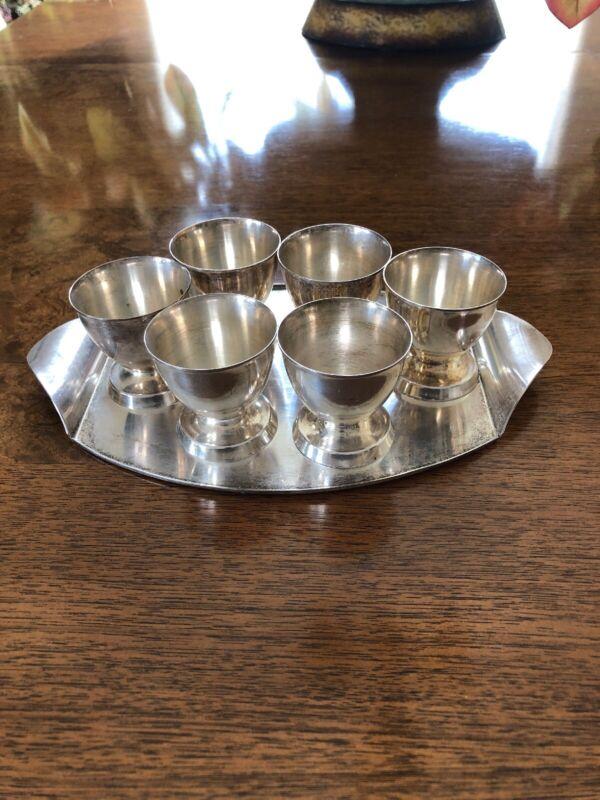 Vintage Silver Shot Cups Set
