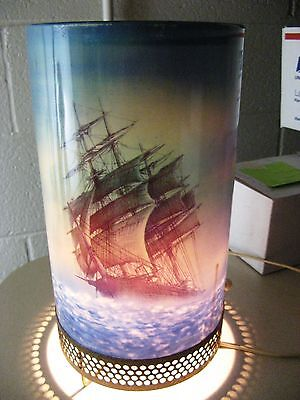 1956 L.A.Goodman Motion Lamp Clipper Ship - Lighthouse Works Great