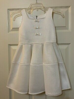 NWT Mimisol Girls White Dress Size 8