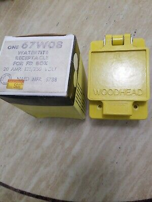 Woodhead 67w08 Watertite Receptacle For Fd Box 20a 125250v