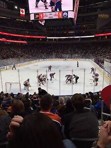 Oilers vs Montreal March 12 Row 13 Aisle Seats Lower Bowl $300