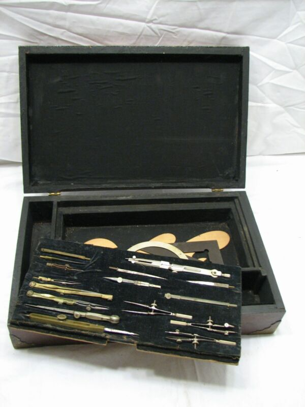 Antique Drawing Drafting Set/Kit Architect