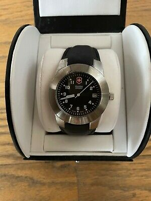 Victorinox Swiss Army 26002 CB Stainless Steel 38mm Leather Quartz Wrist Watch