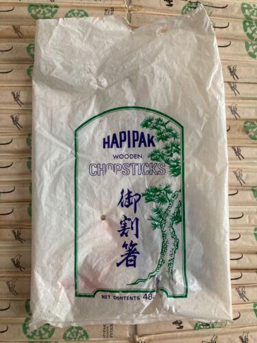 Lot of 40 Vintage Hapipak Wooden Chopsticks MARUFUJI CO. Made in Osaka Japan