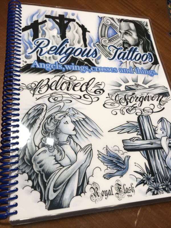 Religous Tattoos And Angel Wings Flash Book