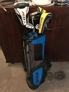Golf bag and 13 clubs - ping, Taylor Made RH Mens