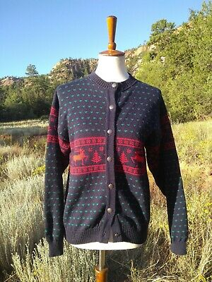 Nordic Reindeer Sweater (PENDLETON Holiday Sweater, Christmas Reindeer, Winter Nordic SIZE SMALL)