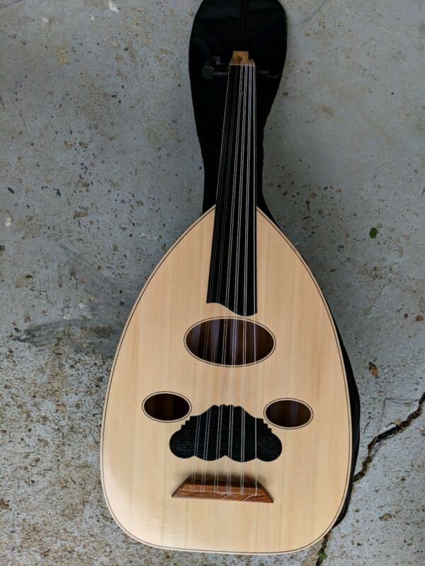 HANDMADE 6-COURSE LUTE (Oud) W/ SOFT CARRY BAG
