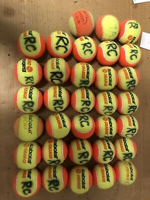 10 Used Tennis Balls Orange Ball (50% Compression) Beginner Ball