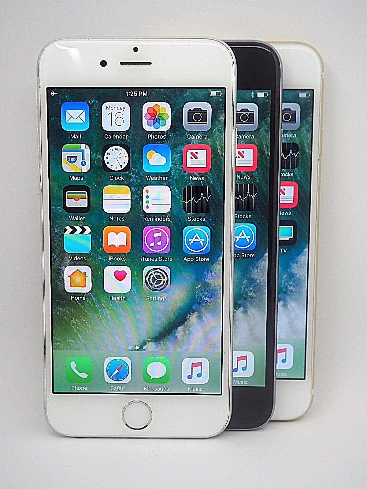 Iphone - Unlocked Apple iPhone 6 - 16GB 64GB 128GB Verizon AT&T, T-Mobile & Sprint & More