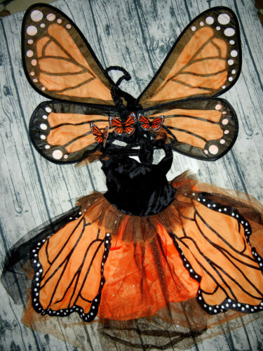 NEW Pottery Barn Kids Monarch Butterfly Tutu Fairy Costume Party Dress up 3T