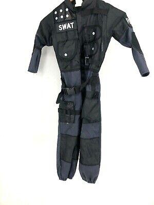 Swat Halloween Costume Boys (Boys Swat police costume black blue size 5 6 Halloween uniform Outfit)