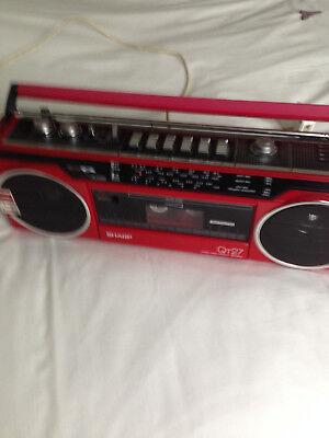 Sharp QT27 Boombox Stereo, Radio, Cassette Recorder
