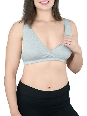95c2cb147 Loving Moments Gray Bamboo Nursing Sleep Bra (Size Large) BRAND NEW W TAGS