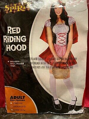 Red Riding Hood Costumes For Adults (Spirit  Red Riding Hood Adult Medium 8-10 Costume For)