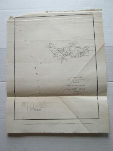 ONE (1) 1853 COAST SURVEY TRIAGULATIONS SKETCH-K, PROGRESS OF COLUMBIA RIVER