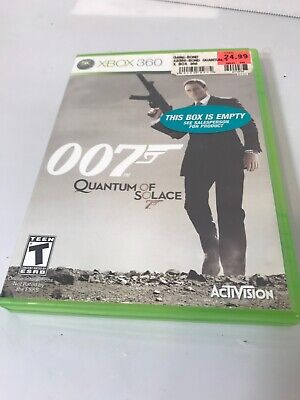 James Bond 007: Quantum of Solace (Microsoft Xbox 360) GAME COMPLETE w/MANUAL