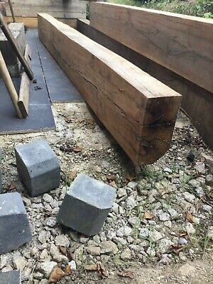 2.6m 250 x 125cm Solid Oak Hardwood wood railway garden sleepers rustic 10