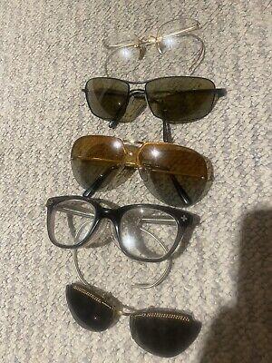Vintage Eyeglasses Sunglasses LOT Serengeti Polaroid Safety Glasses Steampunk