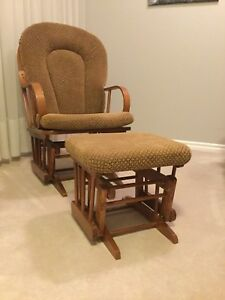 Glider Rocking Chair with Ottoman