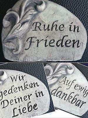 Grabstein Grabschmuck Gedenkspruch Ruhe in Frieden RIP Liebe Frostfest Grab Deko