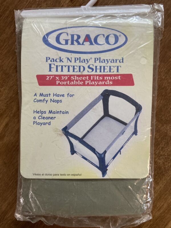 New Graco Pack N Play Fitted Sheet Tea Gray Green 27x39