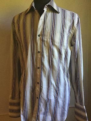 Paul Smith London Shirt French Cuff made in Italy slim-fit shirt Size 15.5 / 39