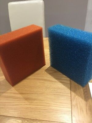 Oase Biotec 5/10/30 9 x Coarse and 9 x Fine Red Foam Sponge Filter Set for Pond