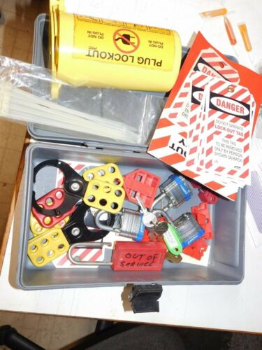 Lockout TAGOUT Safety KIT With Hasps, Loto Tags, Padlocks with Case