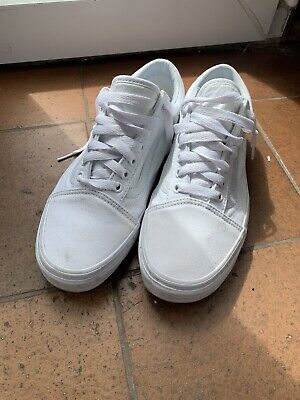 Vans All White Classic Trainers UK 8