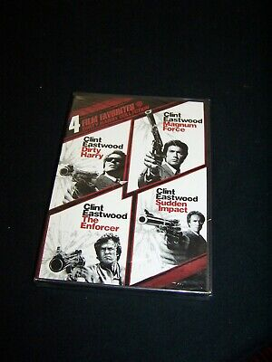 Dirty Harry 4 Film Favorites New DVD Magnum Force, The Enforcer, Sudden Impact