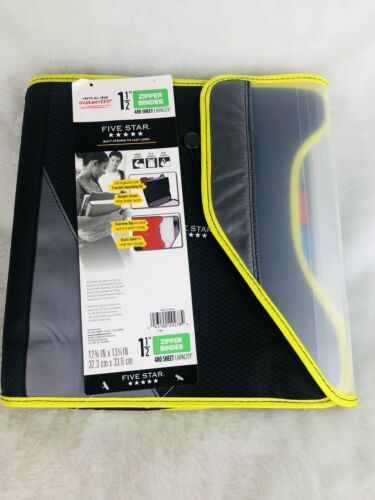 "Mead Five Star 1.5"" 480 Sheet Capacity Green 3 Ring Zipper B"