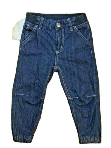 Polarn O. Pyret Size 92 1.5-2YRS Blue Jeans Joggers Rib Waist Adjustable waist