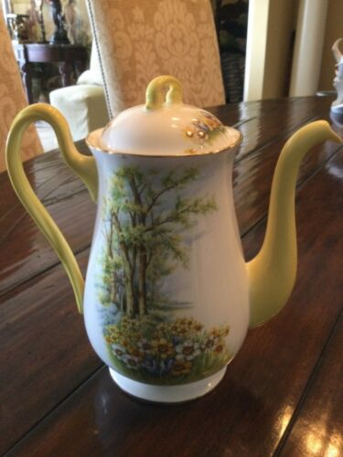 Shelley England Daffodil Time Coffee Pot
