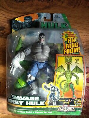 MARVEL LEGENDS 2007 SAVAGE GREY HULK BAF FIN FANG FOOM baf ACTION FIGURE new