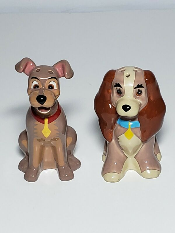 Disney Lady And The Tramp Salt And Pepper Shakers Set Disneyland