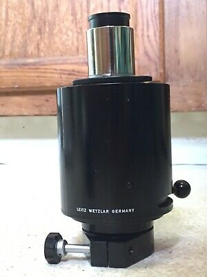 Leitz Microscope Camera Adapter Eyepieces Port Sensor Rotating Prism