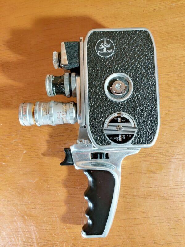 Bolex Paillard B8L 8mm Film Movie Camera w/ pistol grip