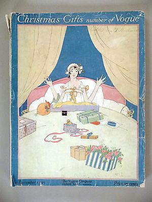 Vogue Magazine - December 1, 1915 -- Robert McQuinn cover art