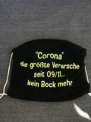 """Mundschutz Stoffmaske """"Handarbeit"""" NEON GELB Coro....die gr. Ver..kein Bock mehr"""