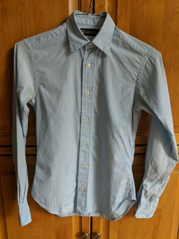 Ladies long sleeve Carl Meyers Blue and green Saddleseat shirt size 8