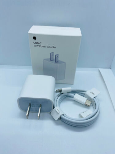 Premium Quality 18W Fast Charge USB-C Power Adapter Cable for iPhone 11 Pro Max