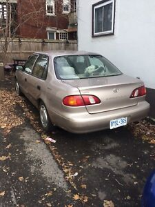2000 Toyota Corolla selling as is